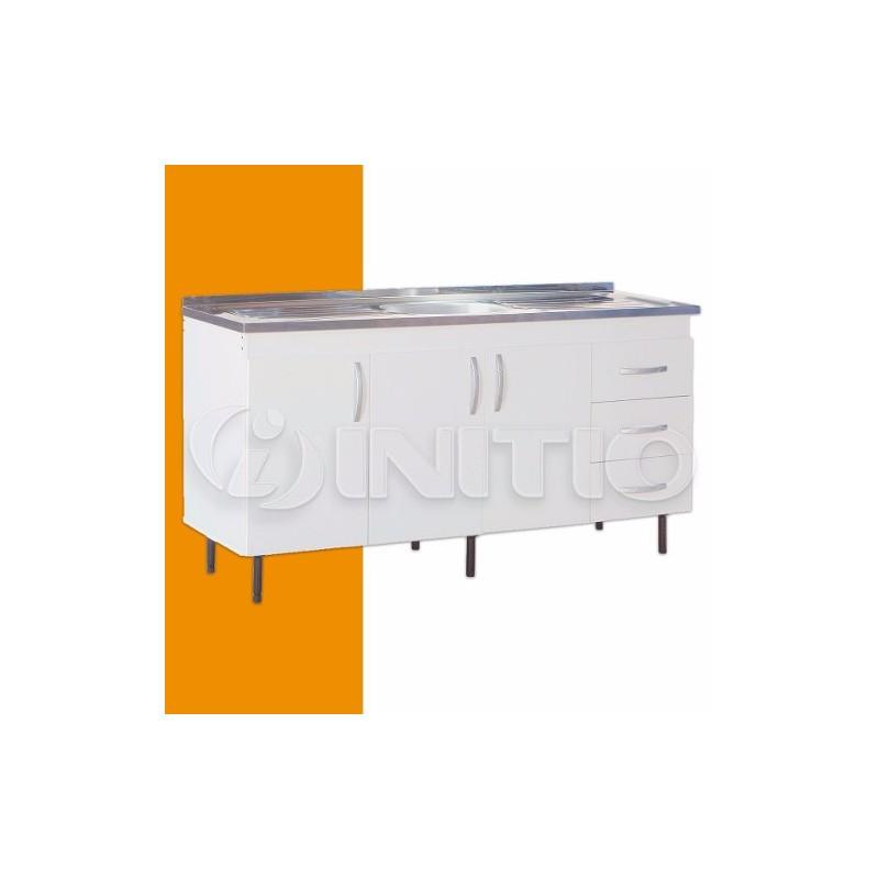 Mueble Bajo Mesada De Cocina 1,60mts Bacha 3 Puertas Mosconi